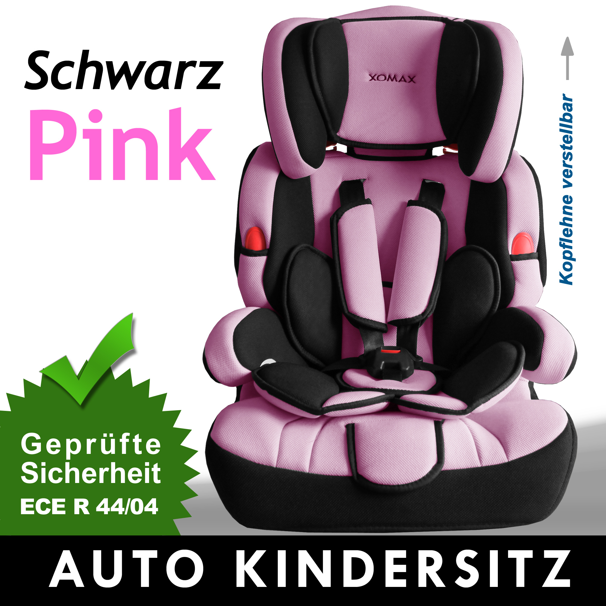 autokindersitz 9 36kg gruppe 1 2 3 rosa kinderautositz autositz kindersitz. Black Bedroom Furniture Sets. Home Design Ideas